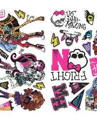 Monster High Peel  Stick Wall Decals by