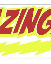 Big Bang Theory BAZINGA Peel  Stick Giant Wall Decal by