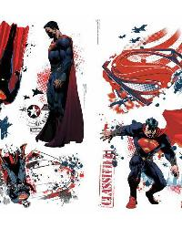 Superman Man of Steel Peel and Stick Wall Decals by