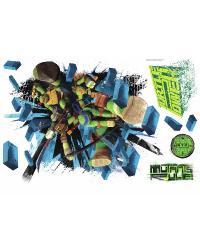 Teenage Mutant Ninja Turtles Brick Poster Peel  Stick Giant Wall Decal RMK2284SLM by