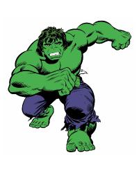 Marvel Classic Hulk Classic Peel and Stick Giant Wall Decals RMK2329GM by