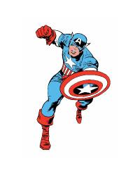 Marvel Classic Captain America Peel and Stick Giant Wall Decals RMK2338GM by