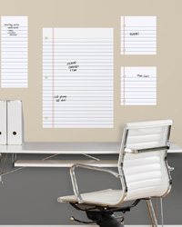 Notebook Paper Dry Erase Peel and Stick Giant Wall Decals RMK2349GM by