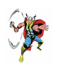 Marvel Classic Thor Peel and Stick Giant Wall Decals RMK2357GM by