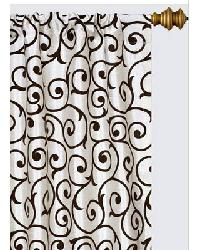 Serafina Scroll Cream Black by