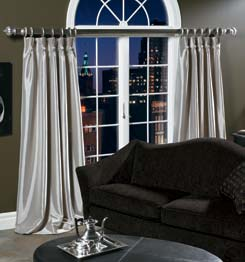 Custom Drapery - Custom Curtain - Tab Top Curtain - Cafe Curtain