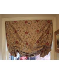 Dog-Eared Flat Front Roman Shade