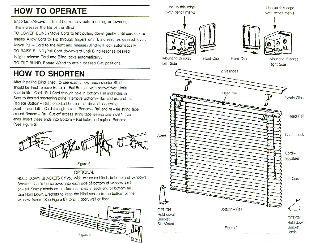 Vinyl Mini Blind Installation Instructions