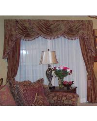 Triple Swags over Drapes by
