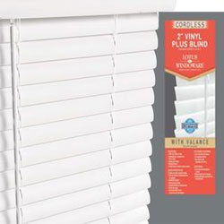 Cordless 2 inch Designer Vinyl Blinds and Vinyl Window Blinds