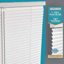 Cordless 1 Inch Vinyl Plus Mini Blinds Free Shipping