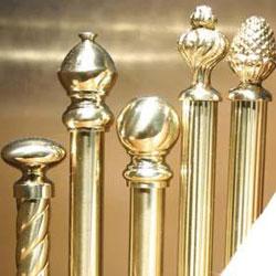 brass curtain rods