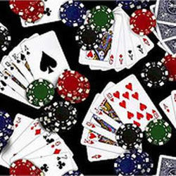 Gambling Fabric - Casino Fabric - Poker Fabric  - Dice Fabric