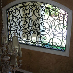 Window Grilles - Removeable Window Grilles - Window Treatments  - Traceries - Ornamental Grilles - Wall Grilles