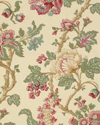 Vervain Fabrics Jacobean Coral Fabric