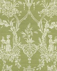 Green Oriental Fabric  Sunan Celery