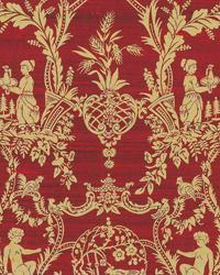 Gold Oriental Fabric  Sunan Ruby