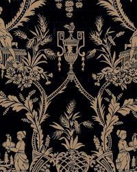 Black Oriental Fabric  Sunan Onyx