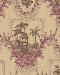 Purple Oriental Fabric  Bayan Meadow Plumwood