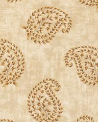 Brown Classic Paisley Fabric  Matara Wheat