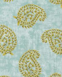 Green Classic Paisley Fabric  Matara Seaspray