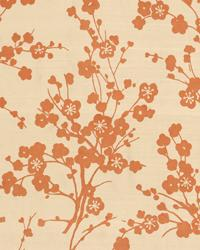 Orange Oriental Fabric  Zeigler Grapefruit