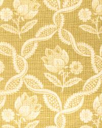 Green French Country Toile Fabric  Tulipa Bamboo