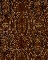 Brown Classic Paisley Fabric  Varese Auburn