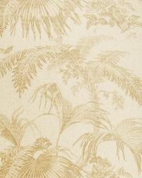 Palm Garden Paperw Pecan On Natural by
