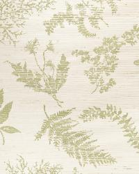 Wildflowers Jute Green On Vanilla by