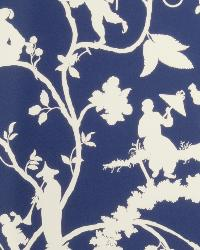 Blue Oriental Fabric  Clayfield Blue & White