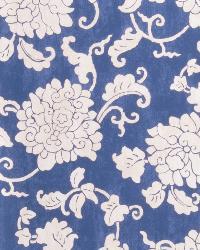 Blue Oriental Fabric  Mickayla Indigo