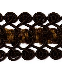 Black Fabric Trim Border  01461 Fudge