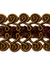 Brown Fabric Trim Border  01461 Cognac