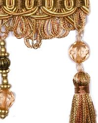 Beige Beaded Trim  01745 Amber