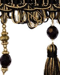 Black Beaded Trim  01745 Black Gold