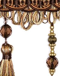 Brown Beaded Trim  01745 Tigers Eye