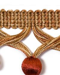 Brown Beaded Trim  01742 Amber