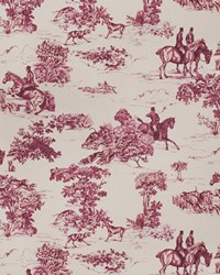 Elway Hall Toile Bd Mahogany On Celadon by