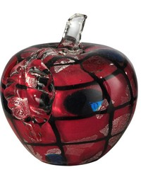 Napa Handcrafted Art Glass Apple Sculpture by