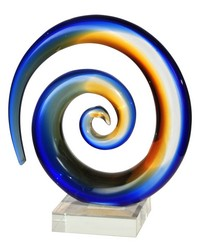 Mystification Handcrafted Art Glass Sculpture Clear by