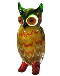 Elf Owl Handcrafted Art Glass Figurine by