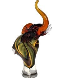 Eddie Elephant Handcrafted Art Glass Figurine by