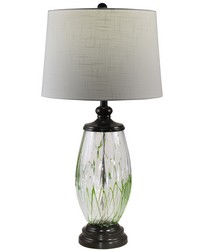 Vale Painted Crystal Table Lamp Ebony Black by
