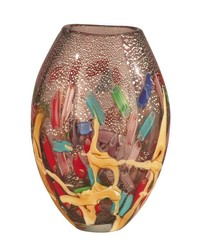 Nora Hand Blown Art Glass Vase by