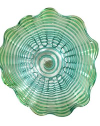 Waterfront 16in Hand Blown Art Glass Wall Decor by
