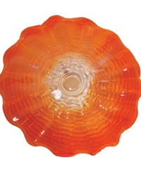 Titian 20in Hand Blown Art Glass Wall Decor by