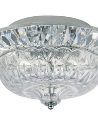 Spontaneous Crystal Flush Mount Polished Chrome by