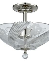 Grove Park Crystal Flush Mount Polished Chrome by