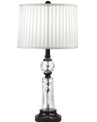 Darya 24 Lead Hand Cut Crystal Table Lamp Ebony Black by
